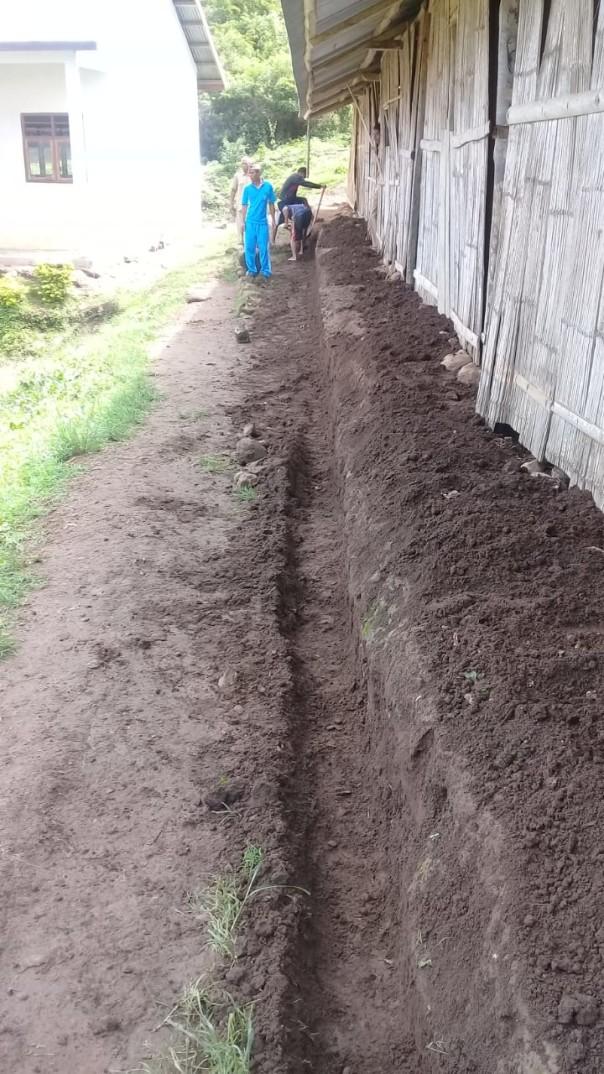 Préparation pour le sol en dur