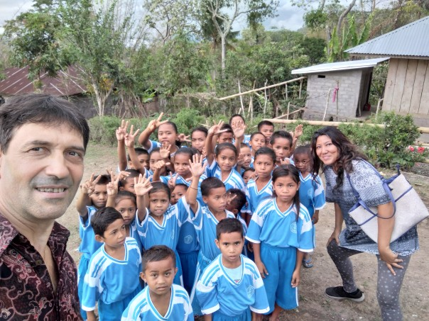 Les enfants de l'école de Kampung Kandang