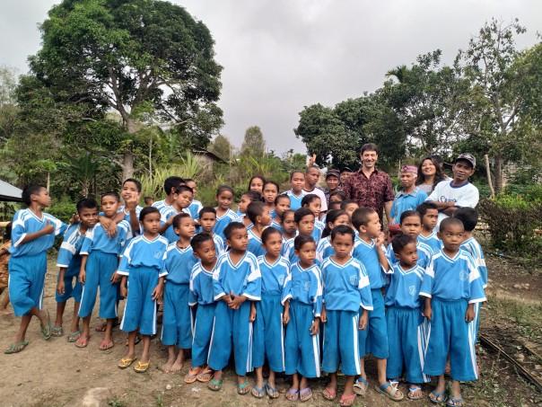 Enfants de l'école de Kampung Kandang